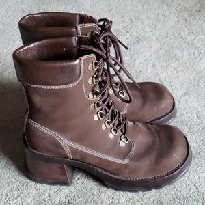 Steve Madden Sz 10 brown leather boots